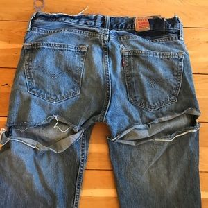 Levi Jeans with Butt Holes